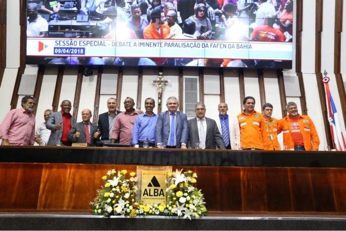 ´´Angelo Coronel reune sindicalistas e políticos em sessão especial na ALBA´´